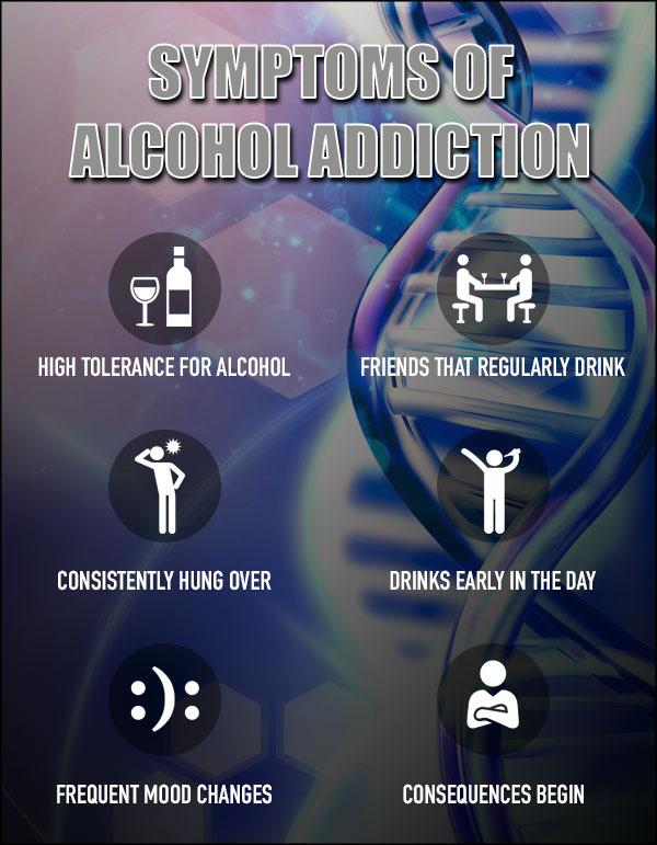 alcohol addiction treatment and symptoms